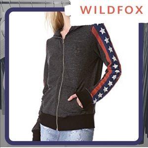 NWT WILDFOX Sir Yes Sir Track Jacket Zip-Up Hoodie